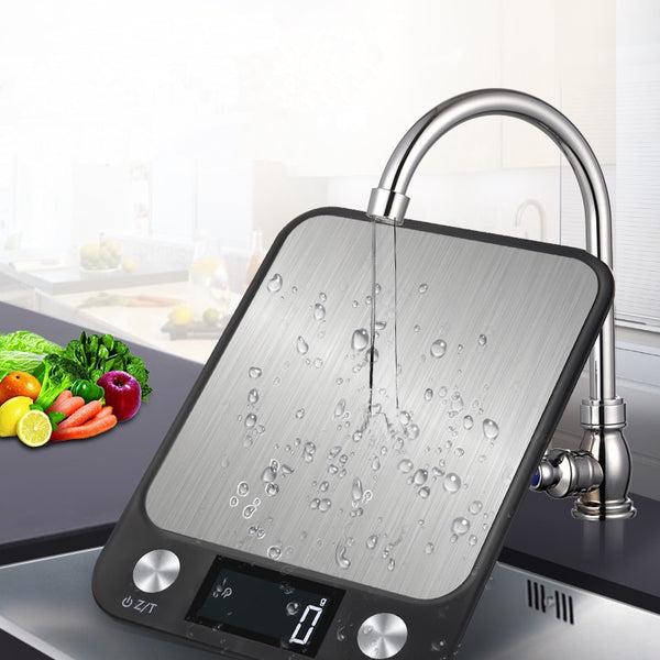 Stainless Steel LCD Digital Display Multi-function Food Kitchen Scale