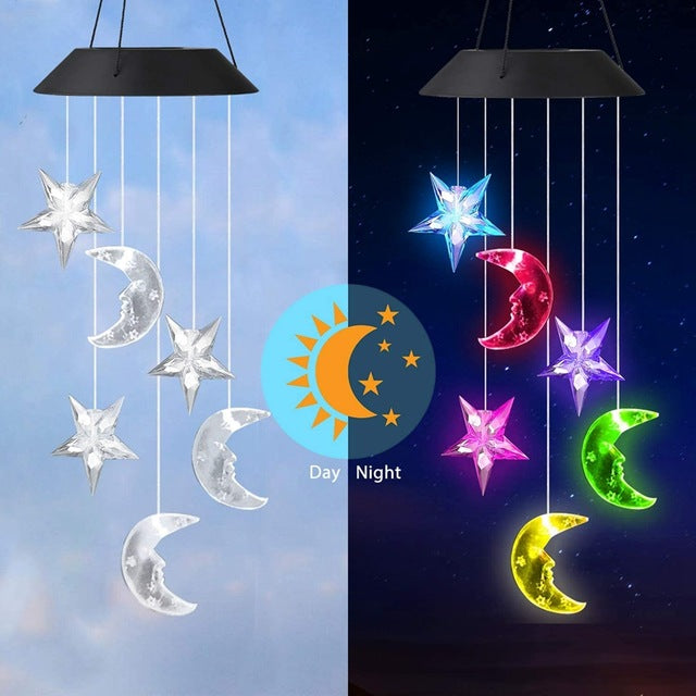 LED Solar Powered Crystal Ball Dragonfly Humming Bird Lights