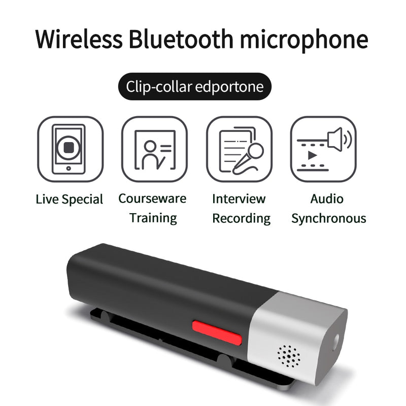 Smart Wireless Bluetooth Microphone Real-time Noise Reduction Vlog Recording Device
