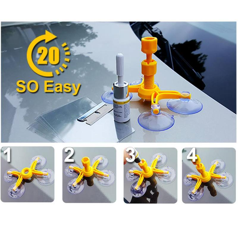 Windshield Repair Kit Quick Fix Car Cracked Glass Tool