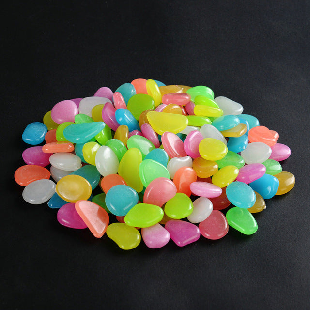 Glow-in-the-Dark Luminous Garden Pebbles