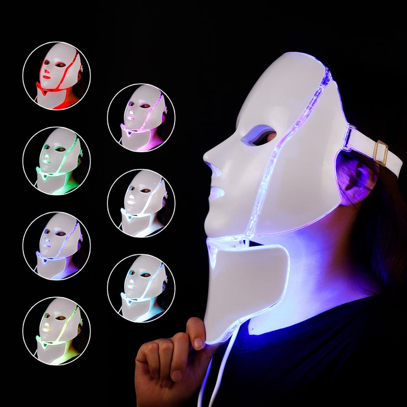 PROFESSIONAL LED LIGHT THERAPY FACE SKIN BEAUTY MASK