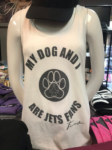 Furmilia My Dog and I are Jets Fans Tank Top