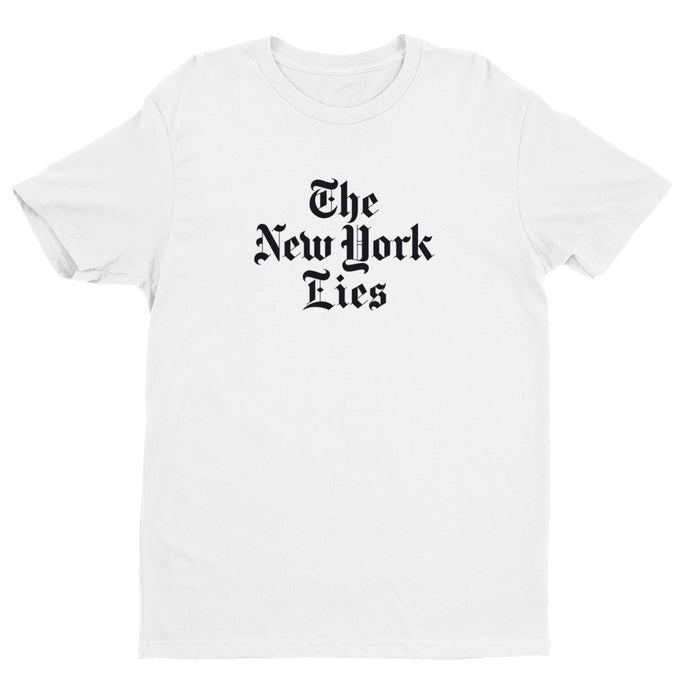 NY Lies White Stack Premium Short Sleeve T-shirt | NoQuarter.us