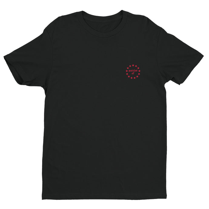 PatriotAF I Black/Red Premium Short Sleeve T-shirt | NoQuarter.us