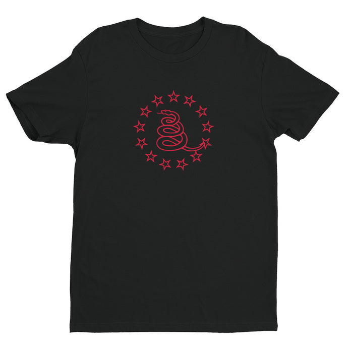 Rosden Black/Red Premium Short Sleeve T-shirt | NoQuarter.us