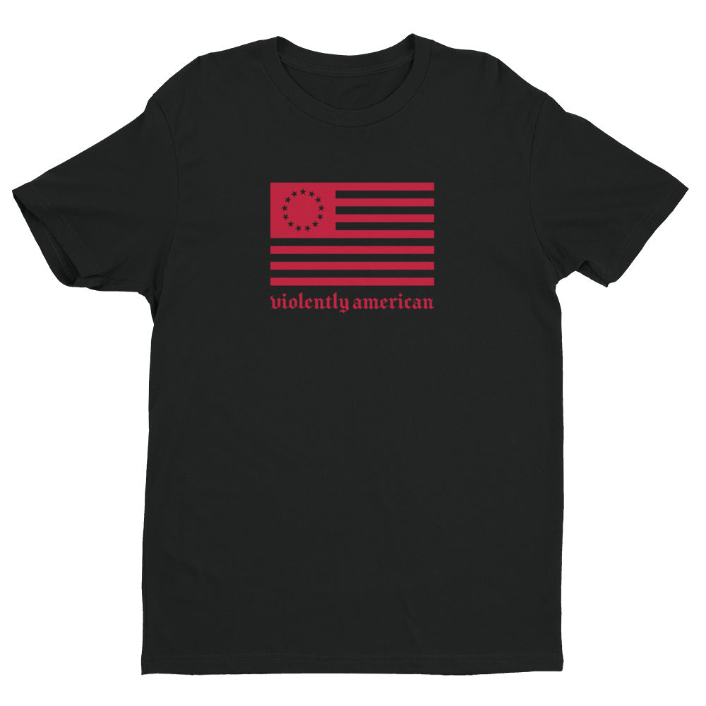 Violently Betsy Black/Red Premium Short Sleeve T-shirt | NoQuarter.us