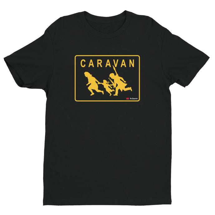 Caravan Black Short Sleeve Premium T-shirt | NoQuarter.us