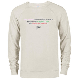 CustomCat Apparel 97100 Delta French Terry Crew / Oatmeal Heather / S gay marijauna assault weapons revised merged and stroked Men's Basic Crew Neck