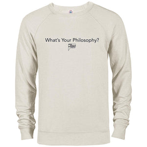 CustomCat Apparel 97100 Delta French Terry Crew / Oatmeal Heather / S whats your philosophy merged and stroked Men's Basic Crew Neck