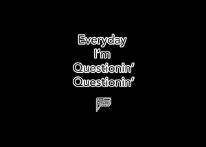 CustomCat Apparel everyday im questioning merged and stroked Women's Basic Tee-Shirt