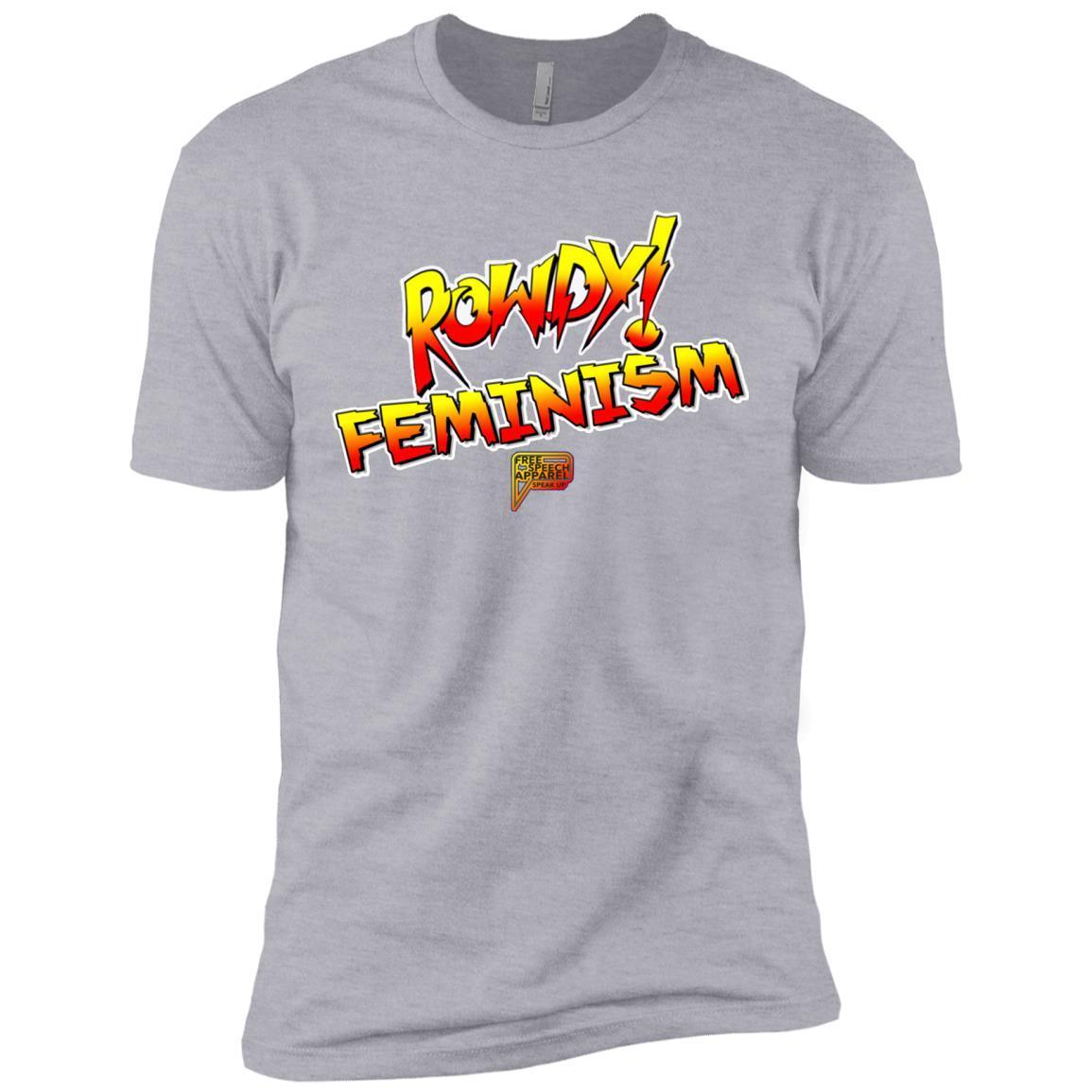 cc759195 CustomCat Apparel Men's Basic Tee-Shirt / Heather Grey / S Rowdy Feminism  Men's Basic