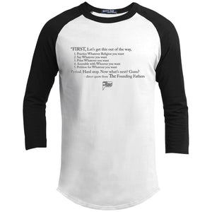 CustomCat Apparel YT200 Sport-Tek Youth Sporty T-Shirt / White/Black / YS Casual Constitution