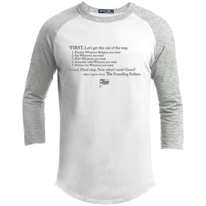 CustomCat Apparel YT200 Sport-Tek Youth Sporty T-Shirt / White/Heather Grey / YS Casual Constitution