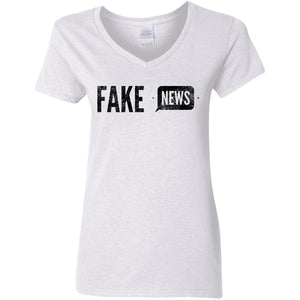CustomCat T-Shirts White / S Fake News | Learn to Code