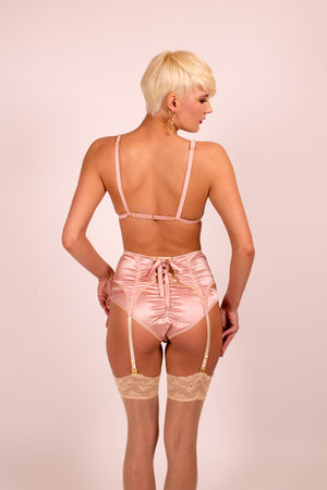 Astrild: Silk Lingerie Set in 19 Colors (bra, panties & garter belt)