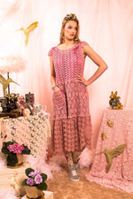Magic Monday - Soft Moca Flower dress