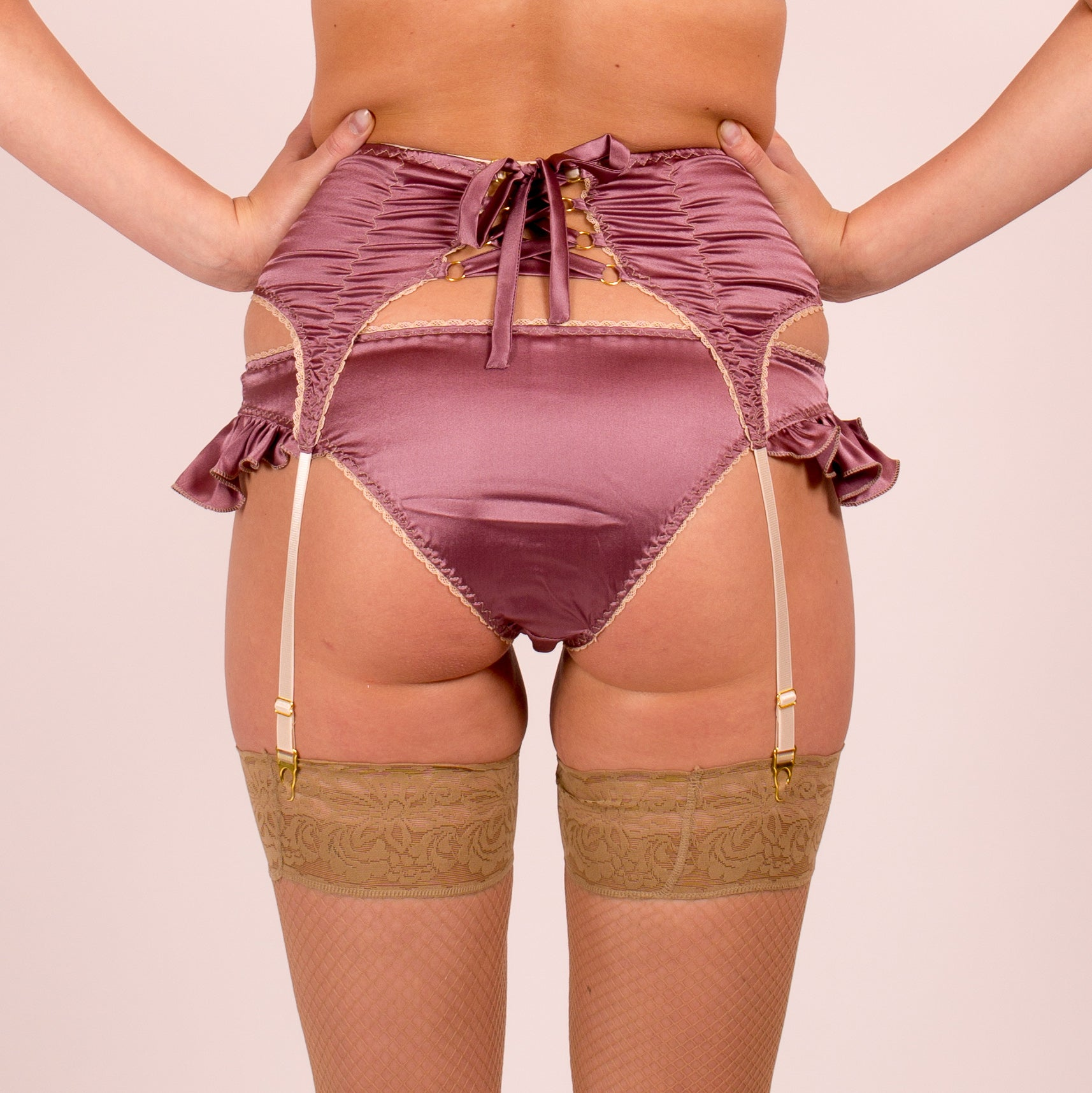 Venus: Silk Satin Low Rise Panties with Cute Frills at the sides. 19 Colors