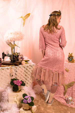 Magic Monday - Soft Pink Flower dress (was 355€)