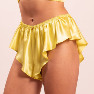 Thalia bias cut silk panties. Choose your favourite from 8 colors