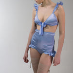 Venus: Silk Lingerie Set in 19 Colors (bra and high waisted panties)