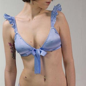 d54d6ad9f7 Venus  Silk Satin Soft Cup Bra with Bow and Frills. 19 colors ...