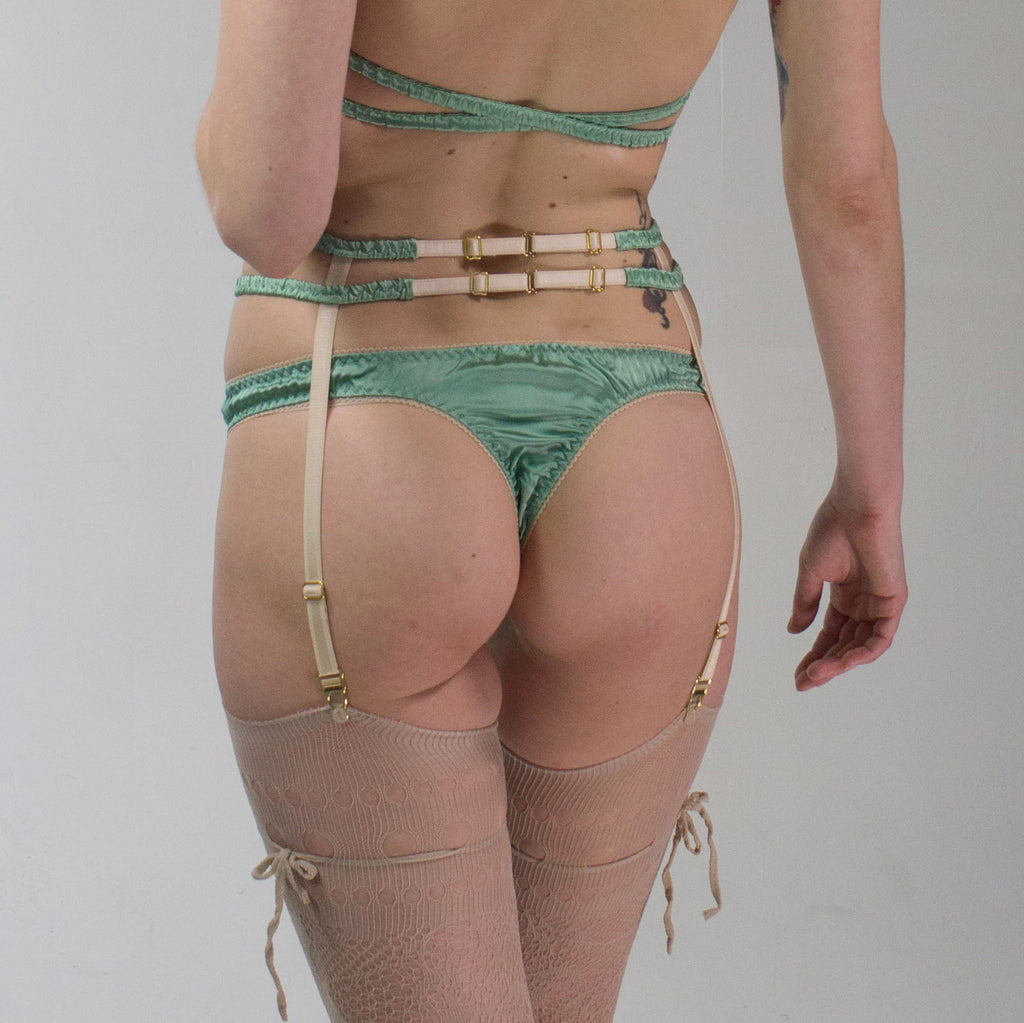 Aphrodite: Silk Satin Thongs. 19 Colors to choose from
