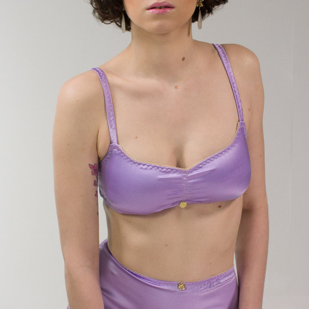 Freya: Silk Satin Soft Cup Bra. 19 Colors and patterns