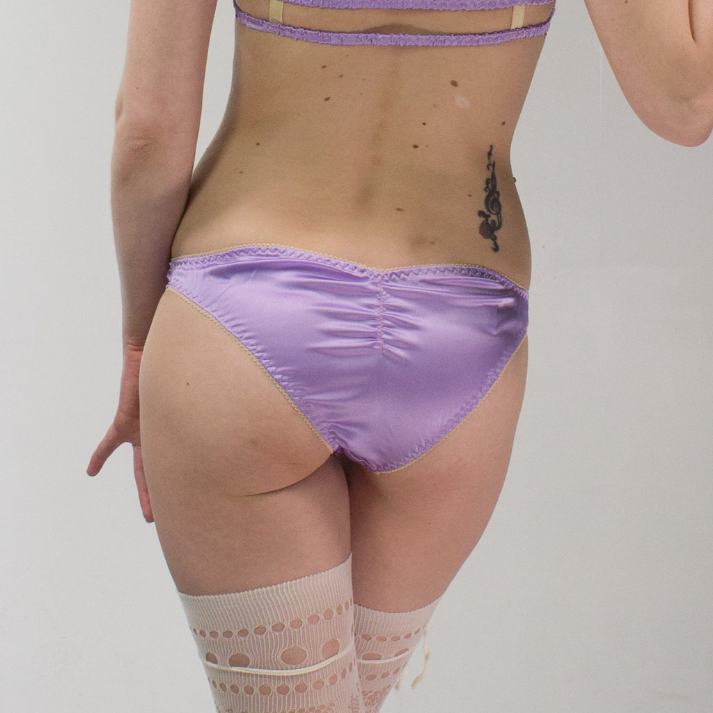 Freya: Silk Satin Low Rise Panties. 19 Colors.