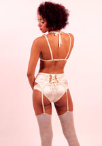 Astrild: Silk Satin Garter Belt. Waspie. 19 Colors and patterns.