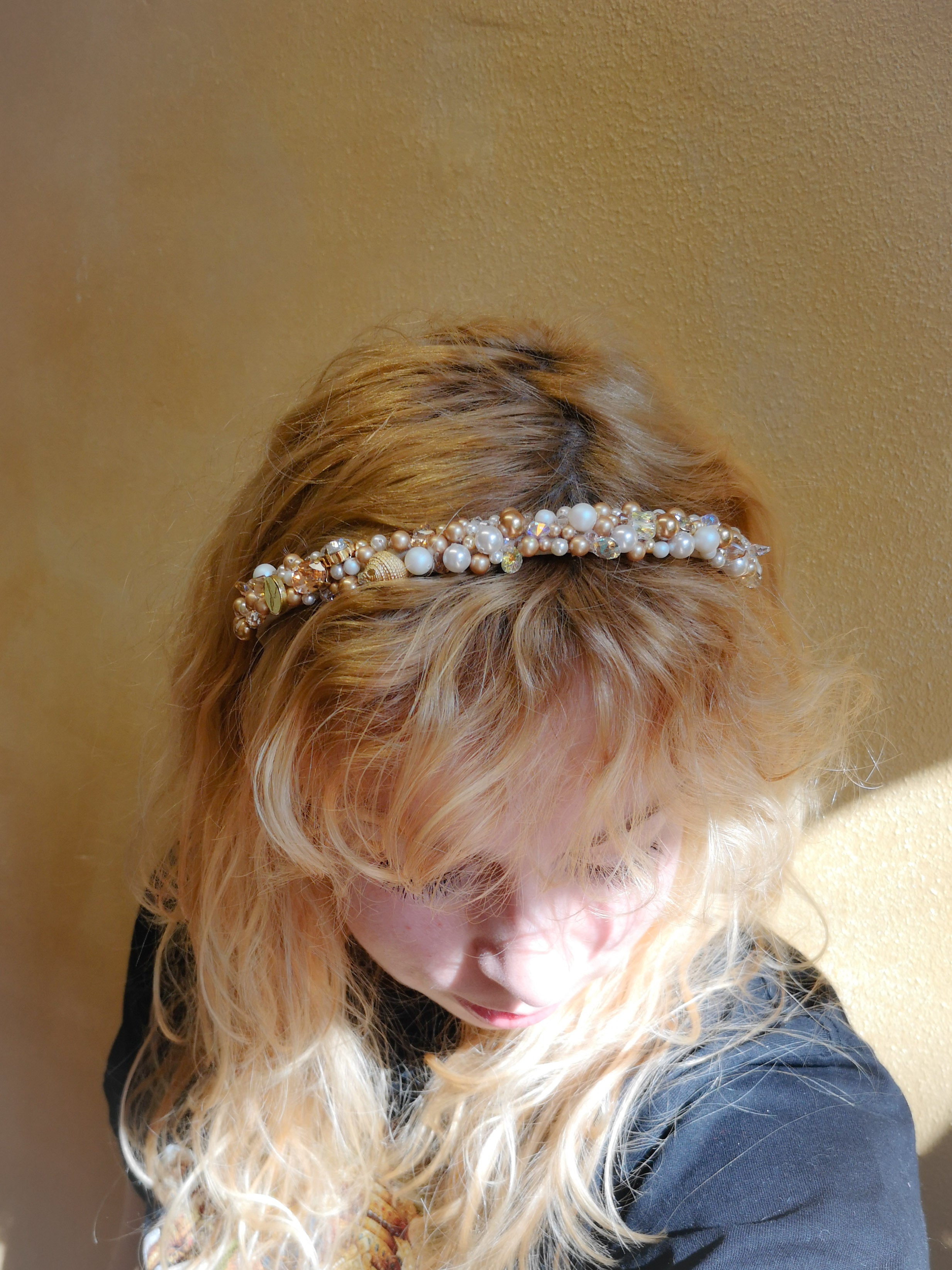 Golden Swarovski goddess headpiece (was 140 €)
