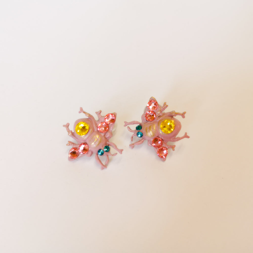 Pink Bumblebees earrings