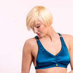 Maia Strech Silk Satin bra. 20 colors to choose from