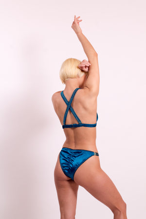 Maia Silk Satin panties with adjustable straps. 20 colours to choose from