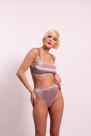 Maia Silk Satin Crop Top with adjustable straps. 20 colours to choose from