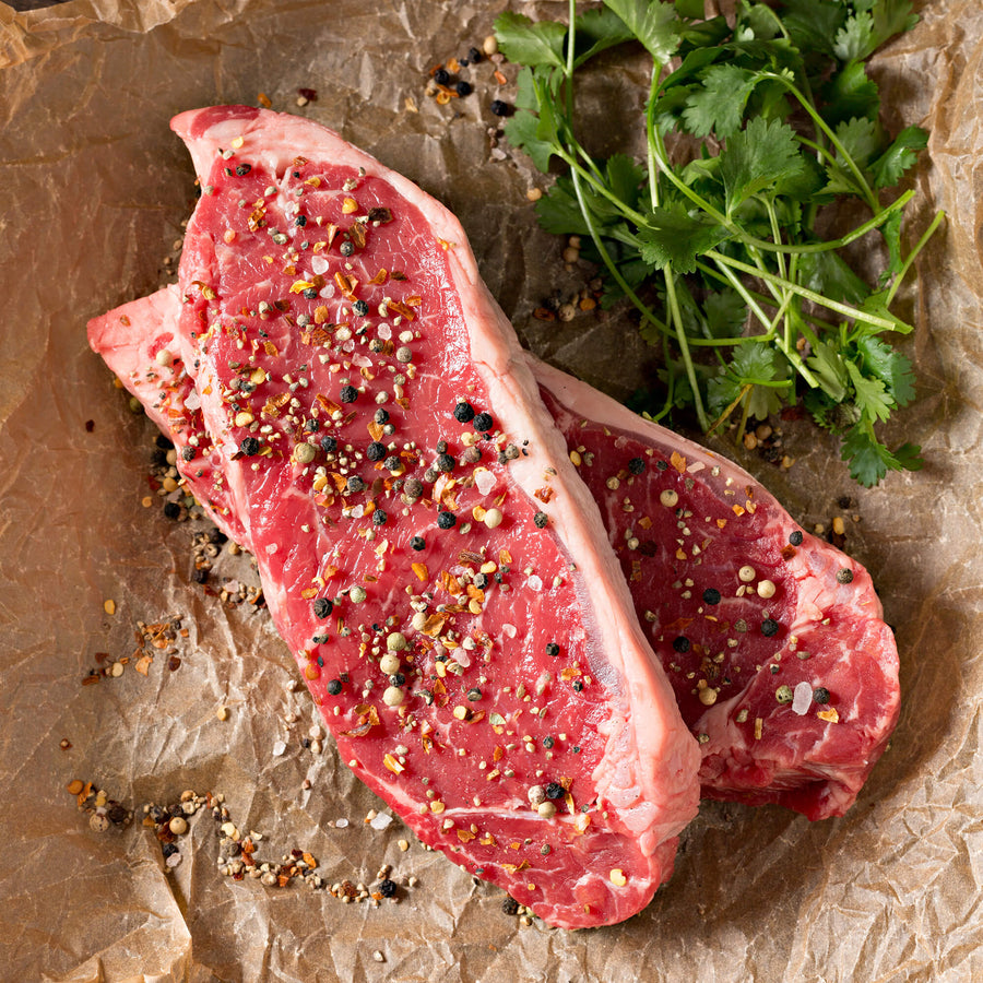 Regenerative Grass-fed NY Strips from our small family farm, REP Provisions - The Regenerative Company.