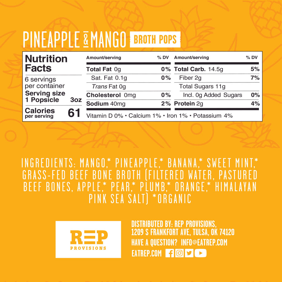 REP PINEAPPLE & MANGO BROTH POP