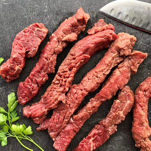 Regenerative Grass-fed Tenderized Steak Strips from Small Family Farms, REP Provisions - The Regenerative Company.