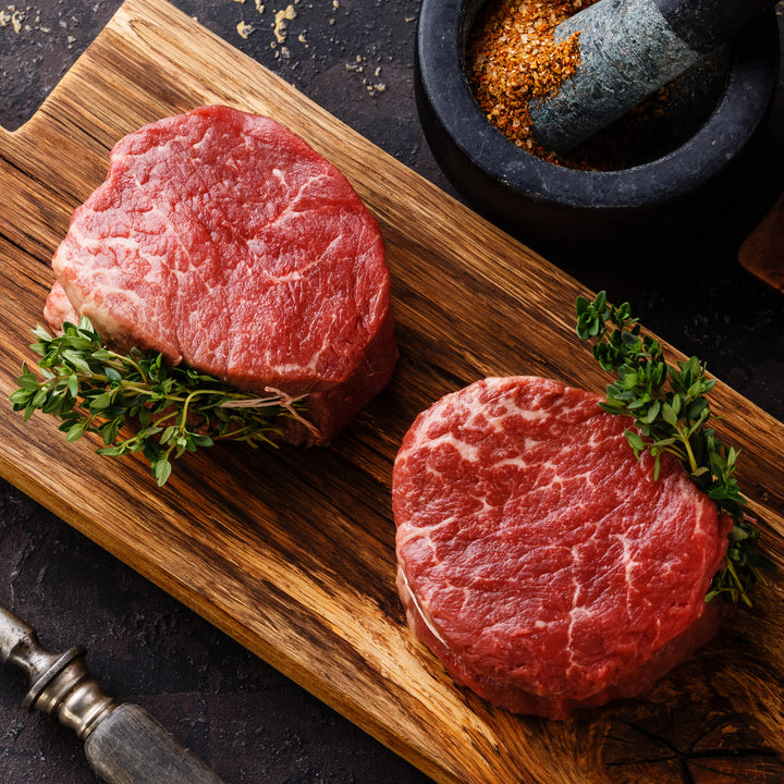 Regenerative Grass-fed Tenderloins or Filet Mignon shipped from our small family farm. REP Provisions - The Regenerative Company.