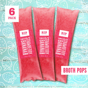 STRAWBERRY & BANANA BROTH POP
