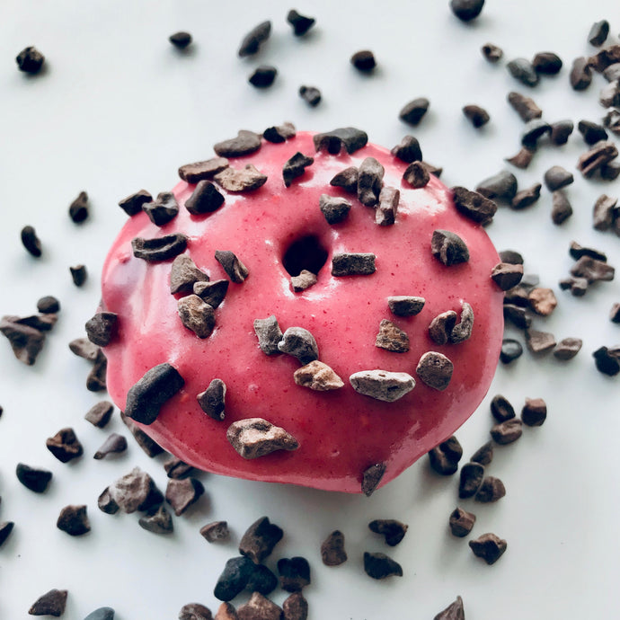 Chocolate Raspberry Cacao Nib Donut