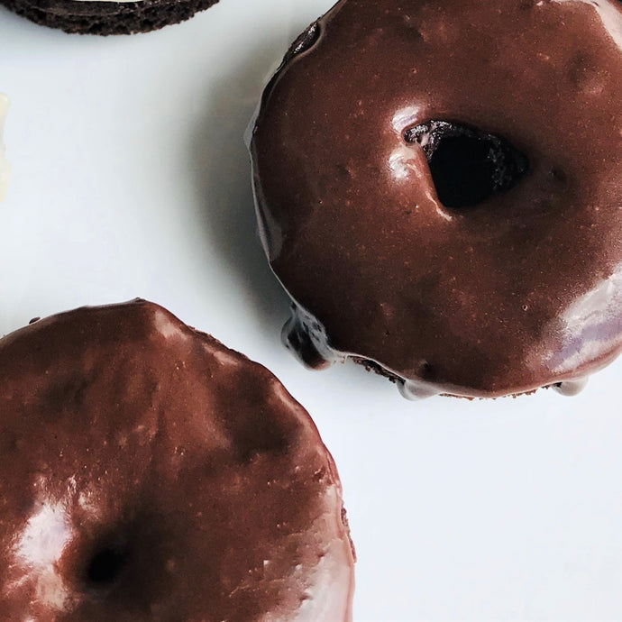 Iced Chocolate Donut (No Topping)