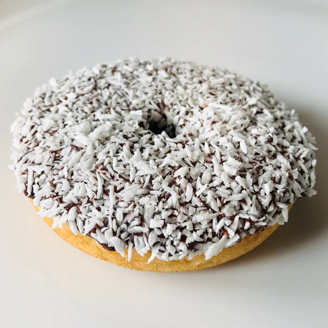 Vanilla Chocolate Coconut Donut