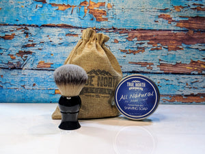 Brush and shave soap kit