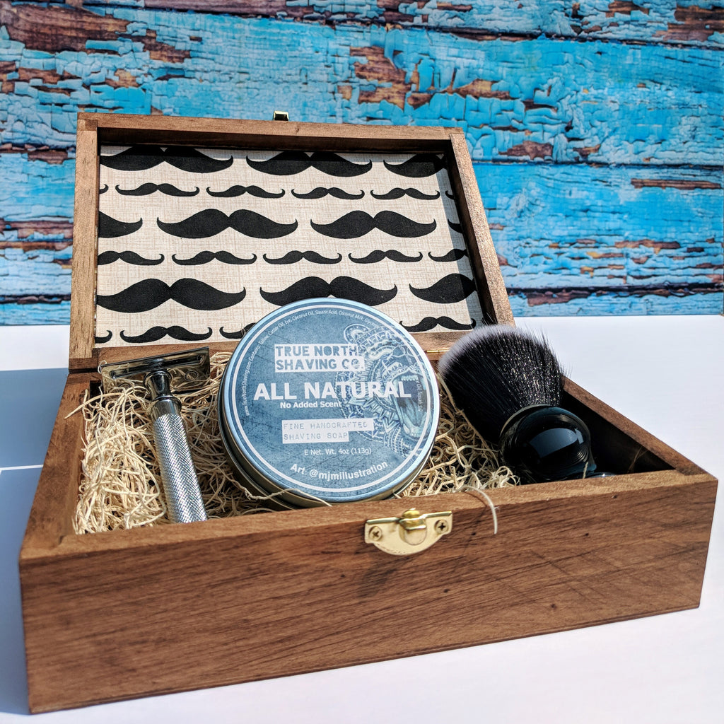 Complete Shaving Kit - Custom Wooden Box