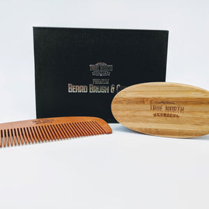 Premium Beard Brush and Comb Kit