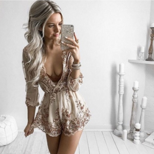 Golden Love Romper