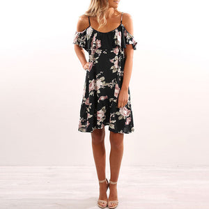 Floral Shoulderless Dress