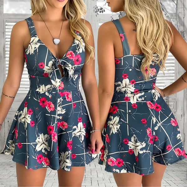 Mika's Floral Romper