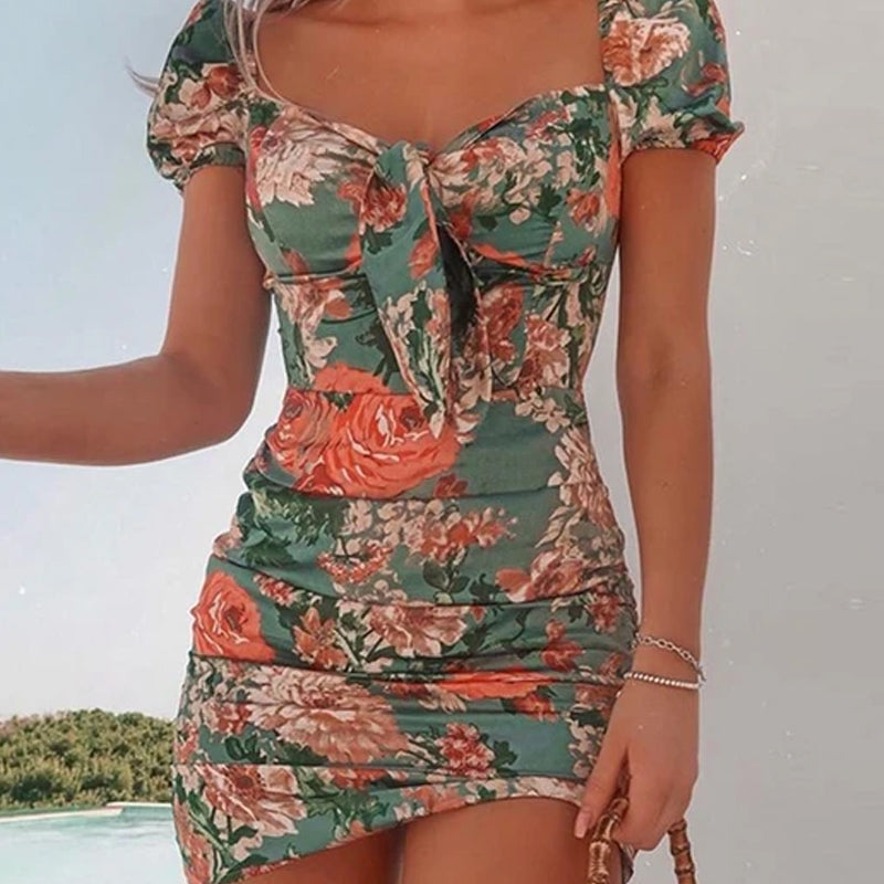 Heather's Floral Mini Dress